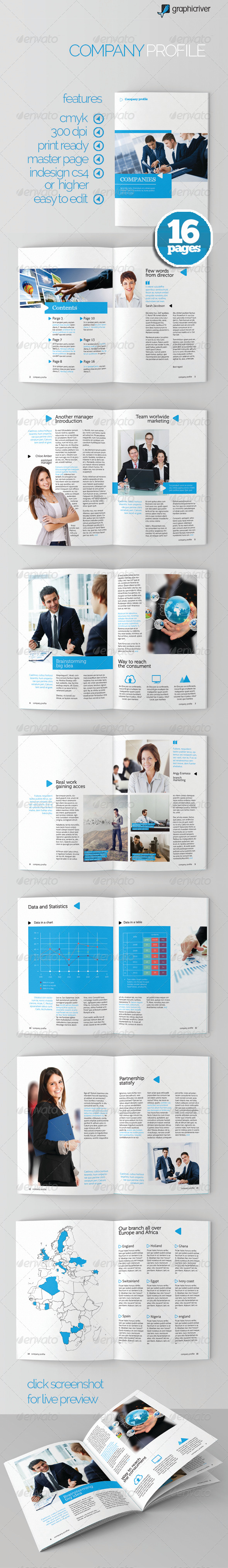 GraphicRiver Clean Company Profile 6221861