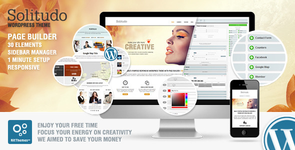 Solitudo: Page Builder & 30 Customizable Elements - Business Corporate