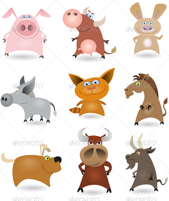 GraphicRiver Vector animals set #1 644135