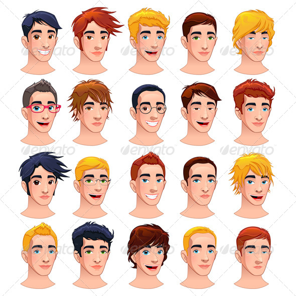 GraphicRiver Avatar Men 6224321