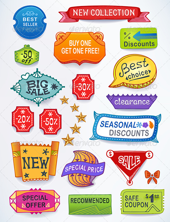 GraphicRiver Sales Messages English Set 6225019