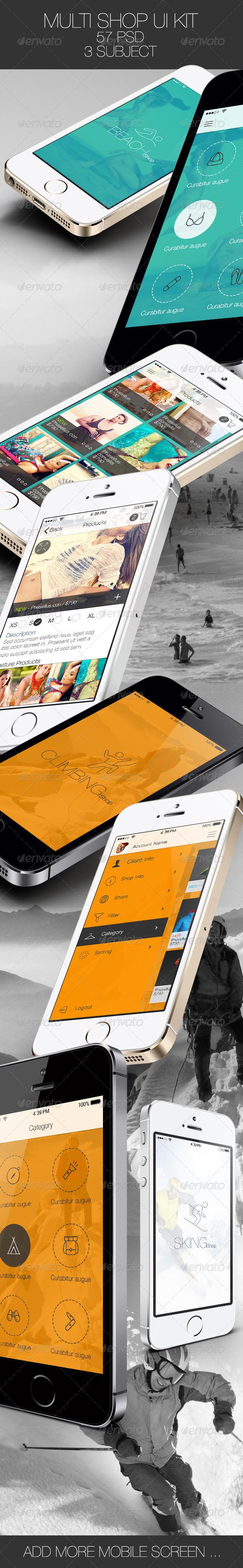 GraphicRiver Multi Shop App for Mobile 6225080