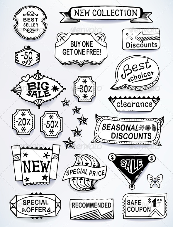 GraphicRiver Sales Messages English Set 6225095