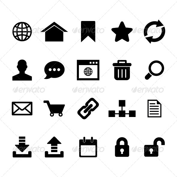 GraphicRiver Internet Icon Set 6226856