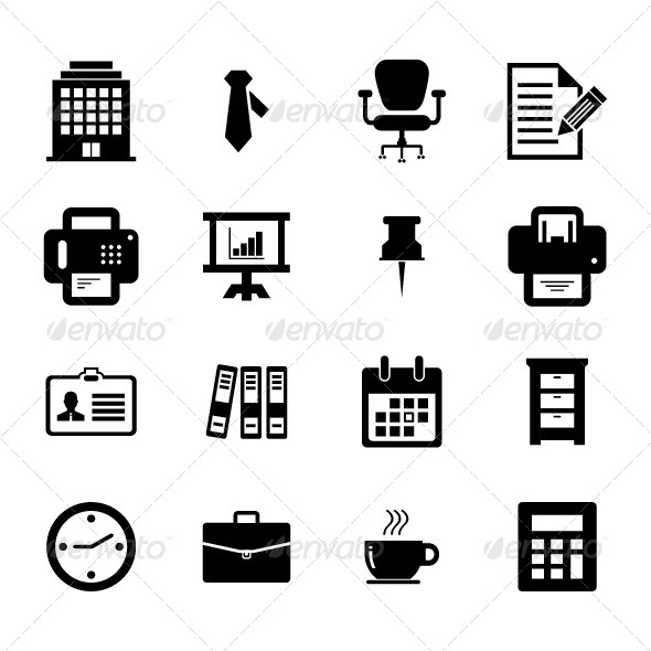 GraphicRiver Office Icon Set 6226880