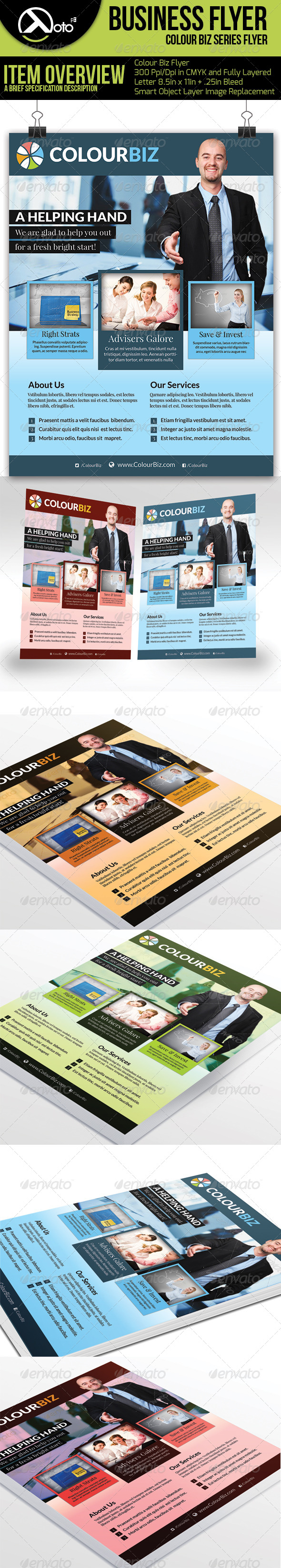 GraphicRiver Colour Biz Recruiting Business Flyers 6227193