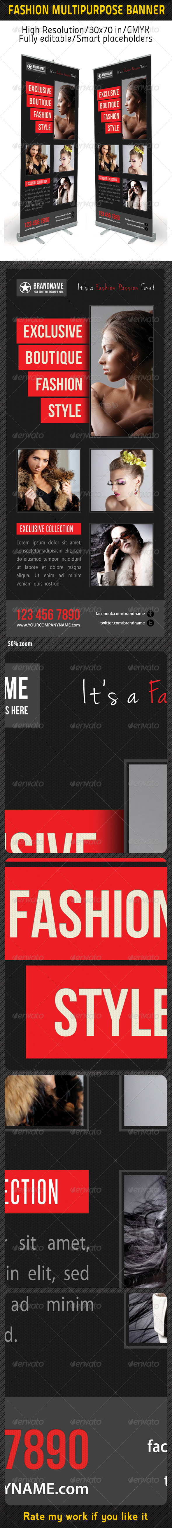 GraphicRiver Fashion Multipurpose Banner Template 17 6227993