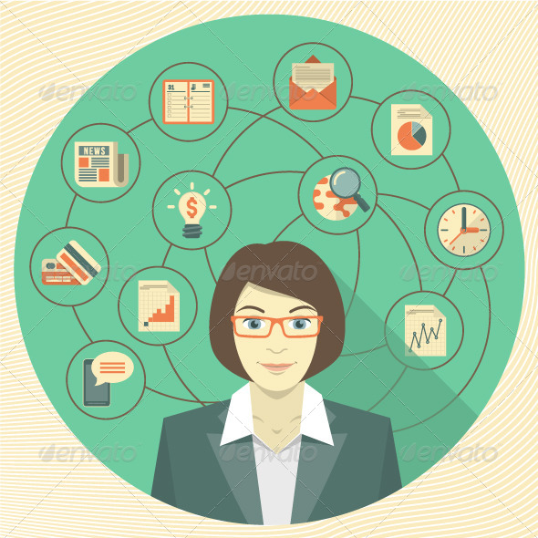 GraphicRiver Modern Business Woman Concept 6228541