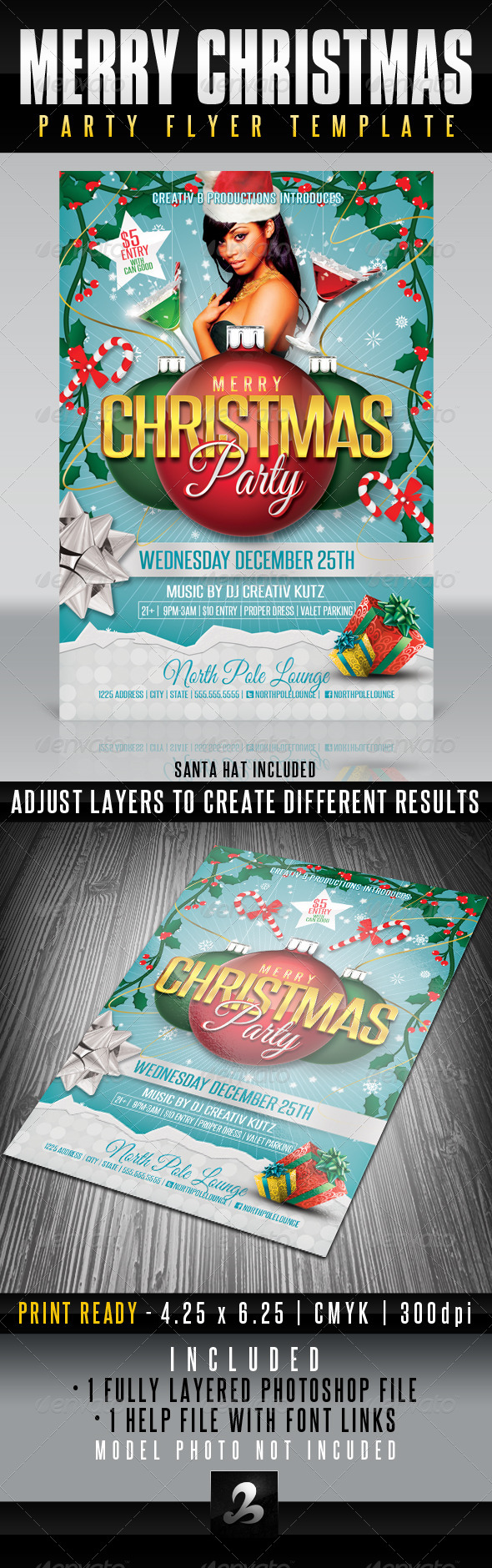 GraphicRiver Merry Christmas Party Flyer Template 6229115
