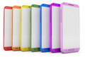 MultiColor Mobile Phone on a white background - PhotoDune Item for Sale
