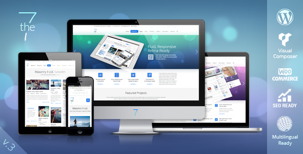 The7. Theme responsive para WordPress