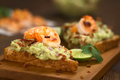 Toast Bread with Guacamole, Shrimp and Bacon - PhotoDune Item for Sale