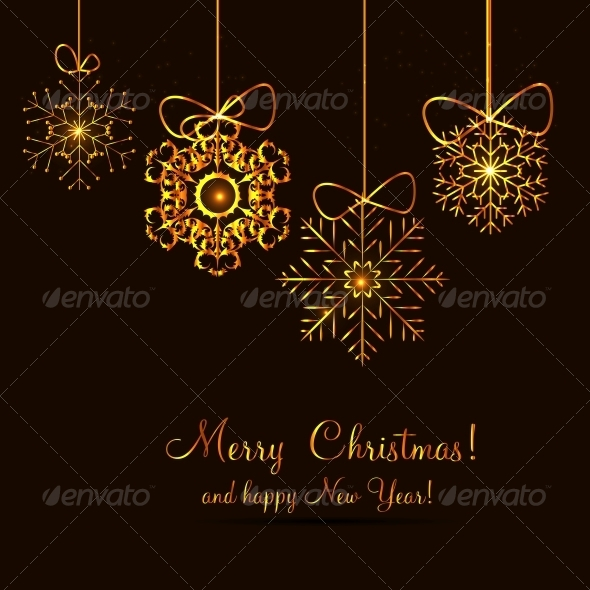GraphicRiver Christmas Snowflakes Background 6230088