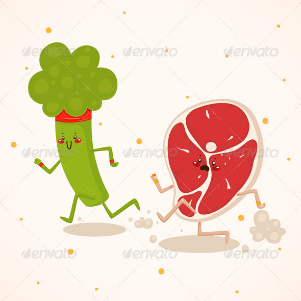GraphicRiver Broccoli vs Meat 6230846