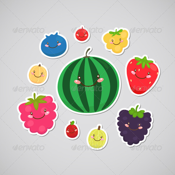 GraphicRiver Berry Stickers 6230920