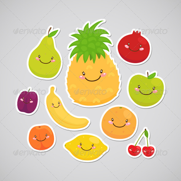 GraphicRiver Fruit Stickers 6230921