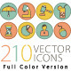 Set of 210 Icons - GraphicRiver Item for Sale