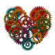 Wooden Gears Forming Heart Shape Illustration - PhotoDune Item for Sale