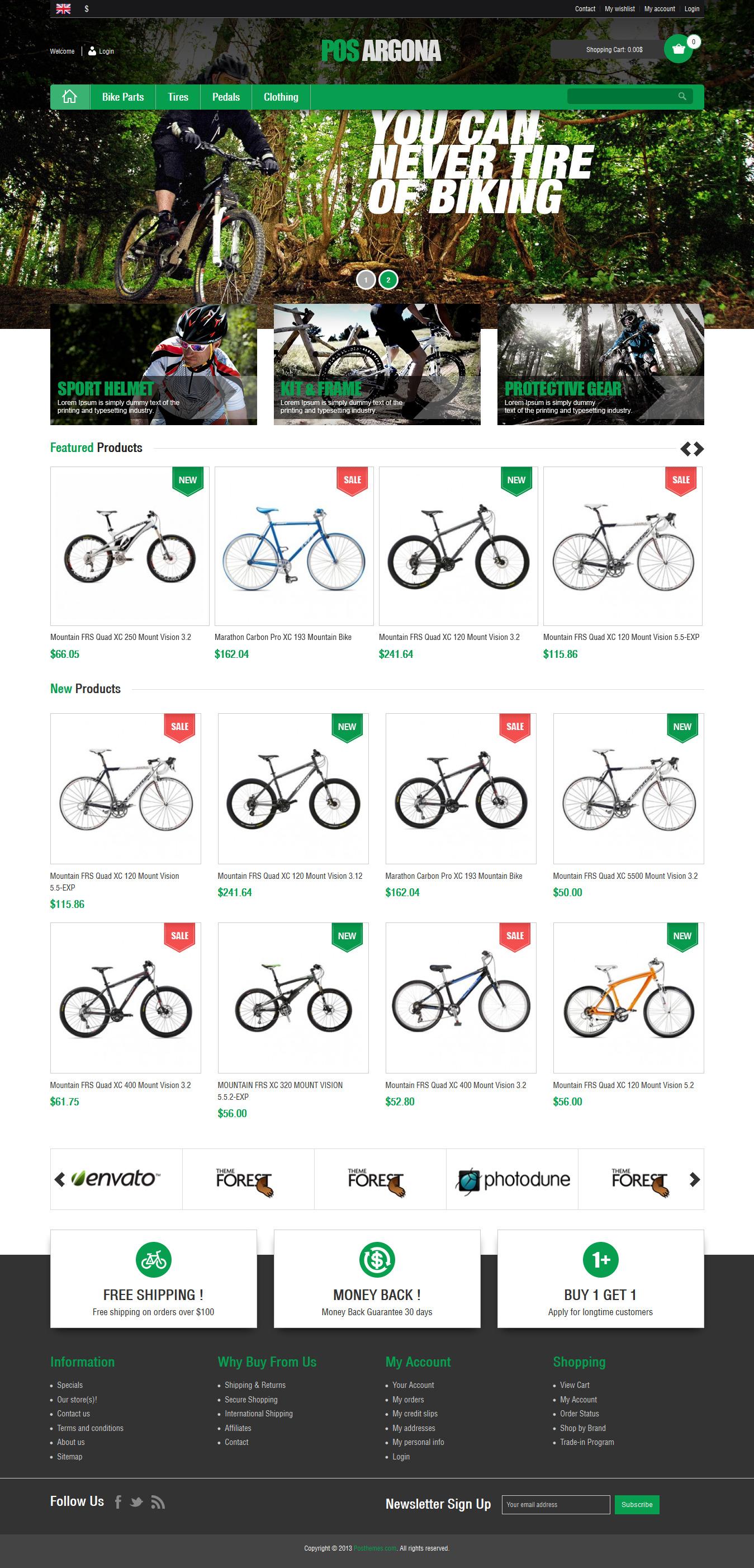 Pos Argona - Responsive Prestashop Bike Store Theme