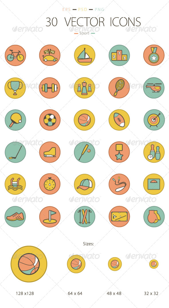 GraphicRiver Set of 30 Sport Icons 6232004