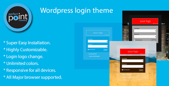 Click here for see Demo Wordpress Login Theme is a login style plugin. This plugin will adds an awesome login screen in your wordpress login. You can select log