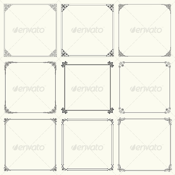 GraphicRiver Decorative Frames 6232471