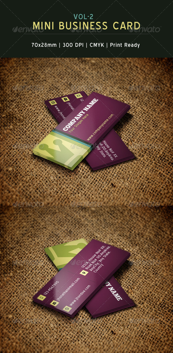 GraphicRiver Creative Mini Business Card 2 6232687
