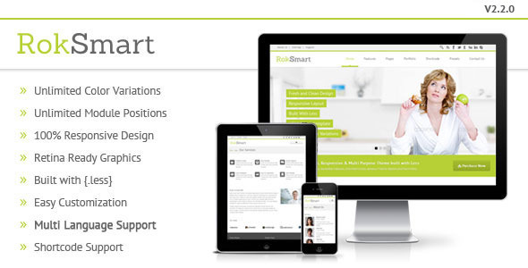 RokSmart - Responsive Multi-Purpose Joomla Theme - Business Corporate