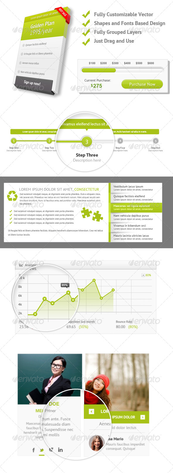 GraphicRiver Clean and Cool User Interface Kit 6234765