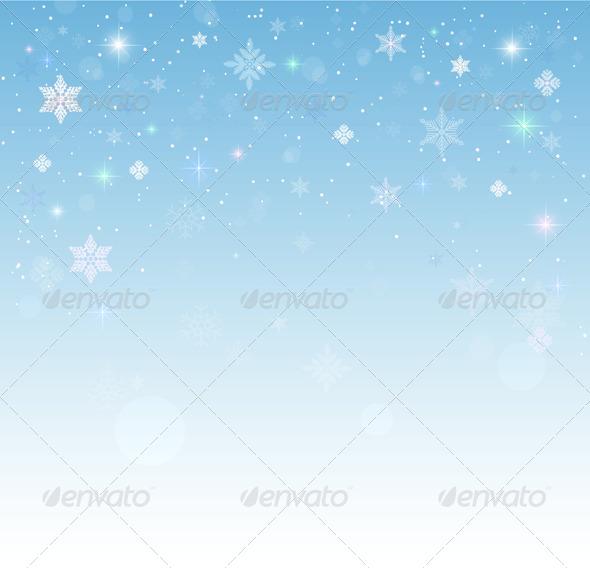 GraphicRiver Christmas Snow Background 6234817