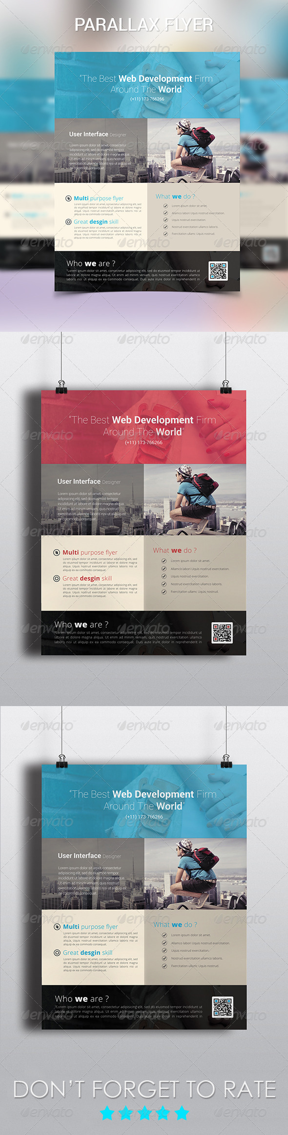 GraphicRiver Parallax Modern Corporate Flyer 6234822