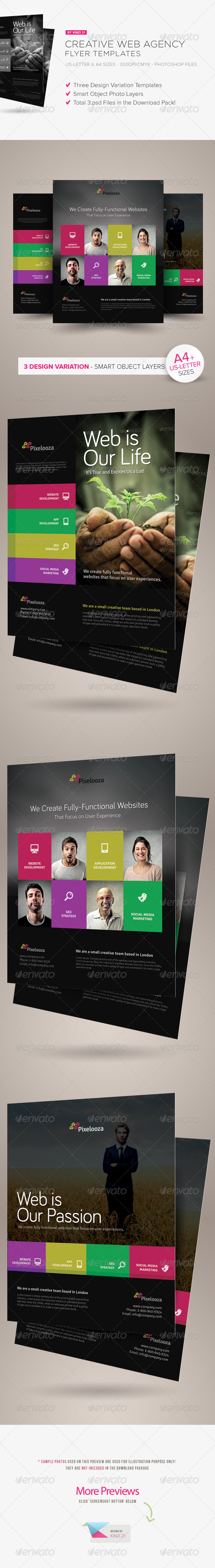 GraphicRiver Creative Web Agency Flyers 6234840