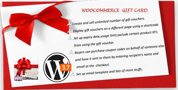 CodeCanyon Woocommerce Gift Card 6234900