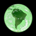 South America on green Earth - PhotoDune Item for Sale