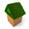 House with green roof - PhotoDune Item for Sale