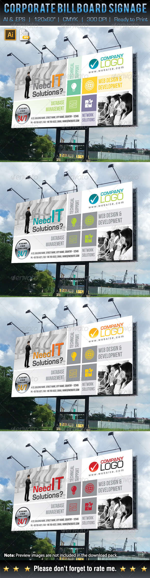GraphicRiver Corporate Business Billboard Signage 6235061