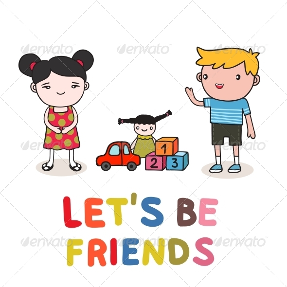 GraphicRiver Kids Friendship 6236633