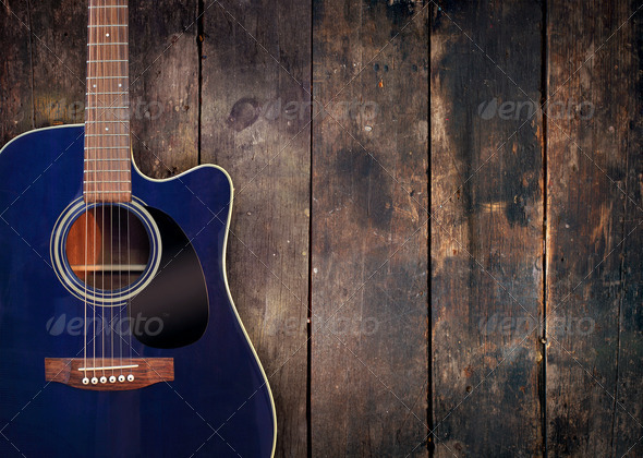 Acoustic Guitar Blue Wallpaper | www.pixshark.com - Images ...