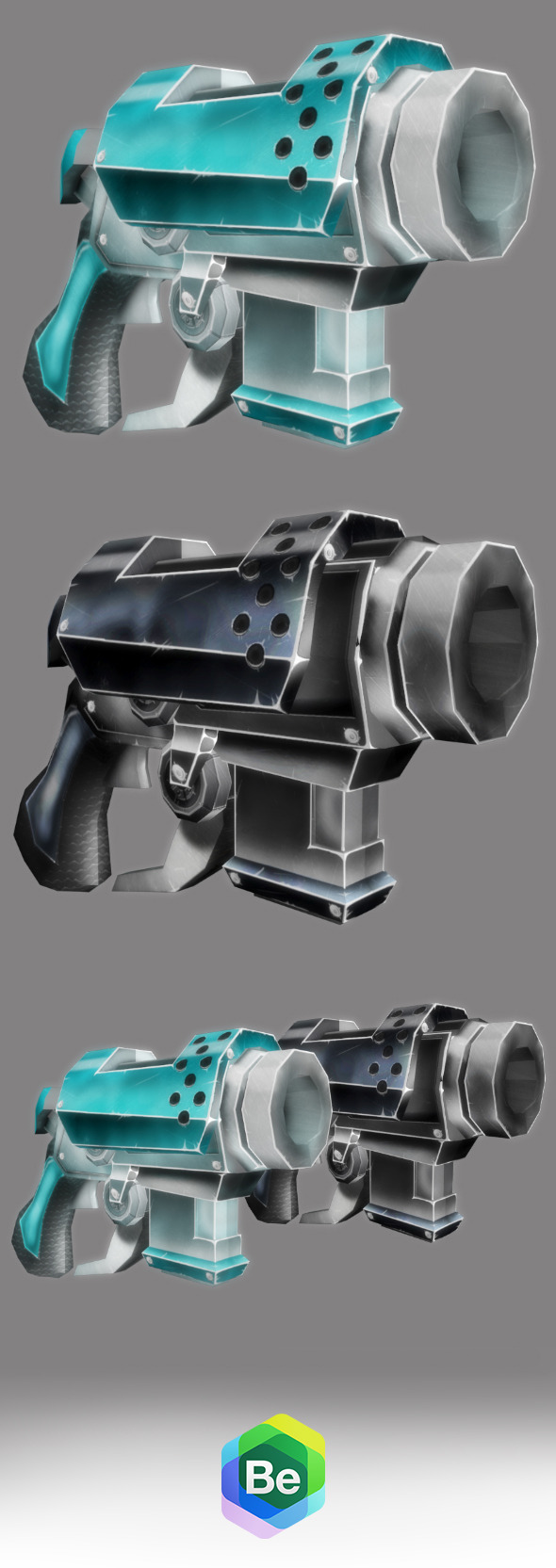 3DOcean Low Poly Cartoonish Sci-Fi Pistol 6237712