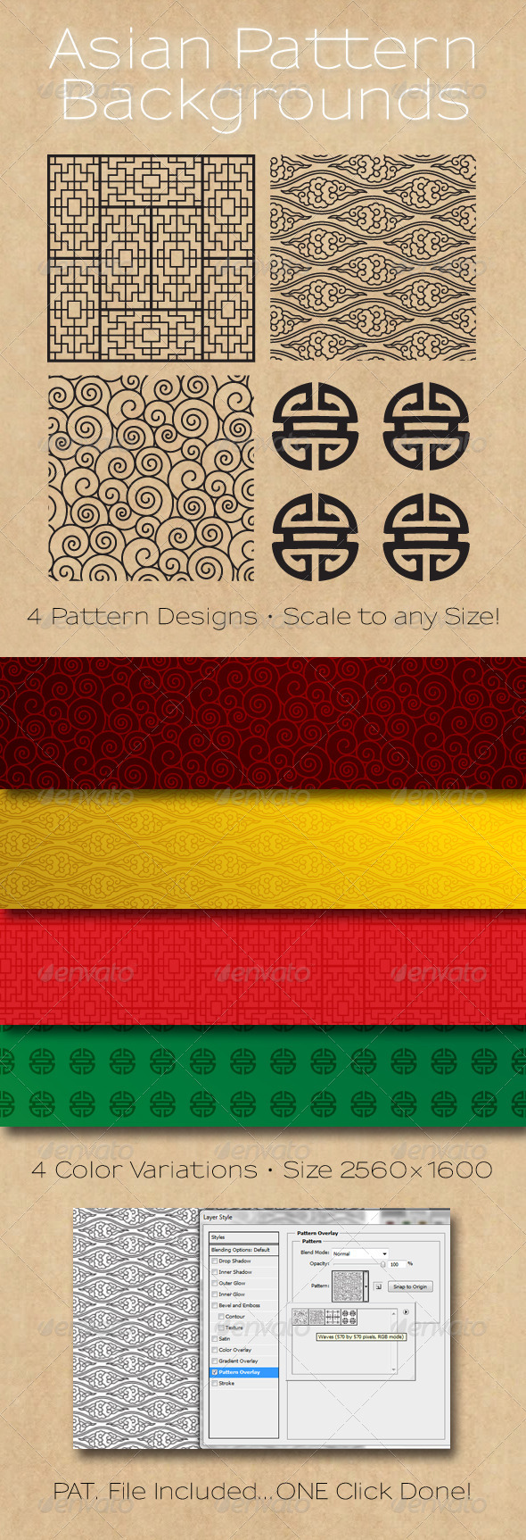 GraphicRiver Asian Patterns Background 625609