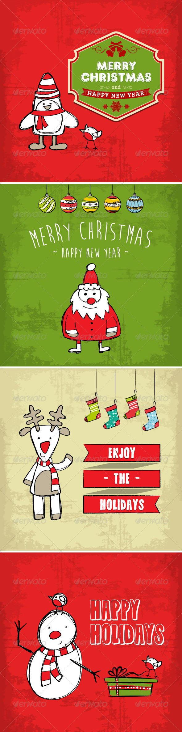 GraphicRiver Collection of Christmas and Holiday Cards 6238363
