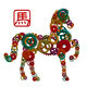 2014 Chinese Wood Gear Zodiac Horse Illustration - PhotoDune Item for Sale