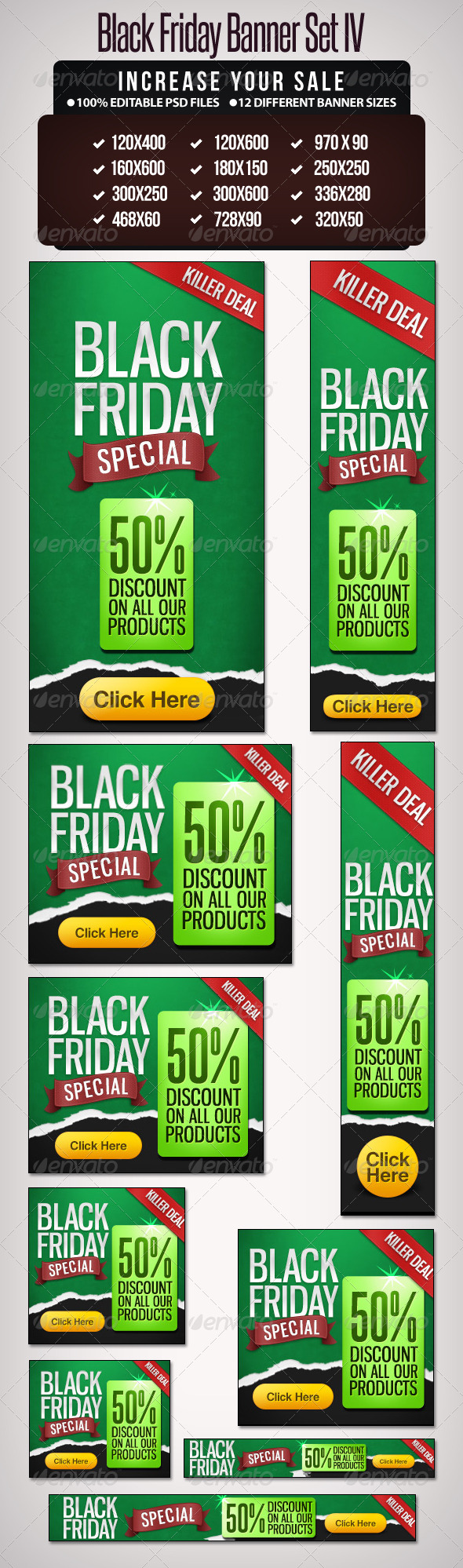 GraphicRiver Black Friday Banner Set 4 6238580