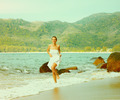 Colorized vintage girl on beach portrait - PhotoDune Item for Sale