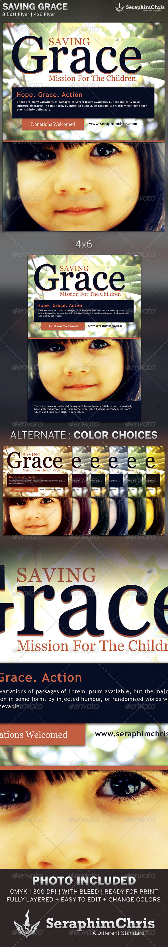GraphicRiver Saving Grace Church Charity Flyer Template 6238872