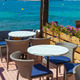 Scenic Cafe Besides Mediterranean Sea - PhotoDune Item for Sale