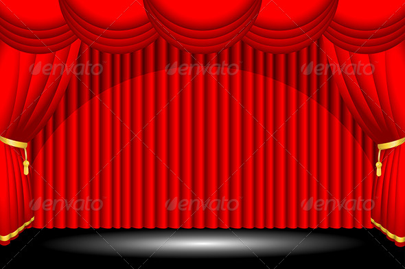 GraphicRiver Red Stage Background 6239935