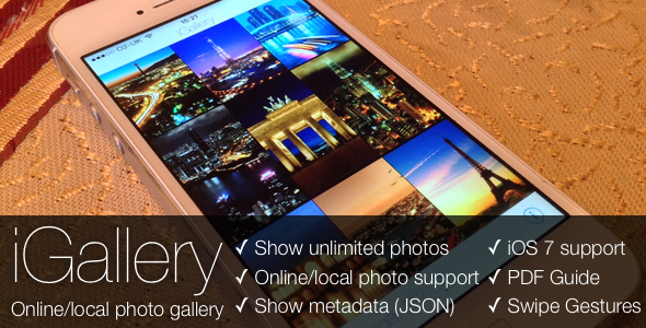 CodeCanyon iGallery Online Local Photo Gallery for iOS 6240621