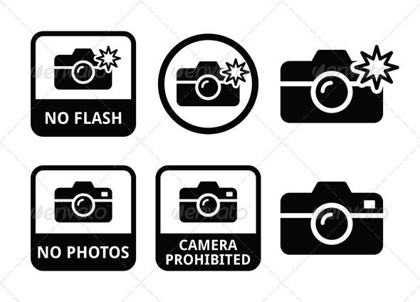 GraphicRiver No Photos No Cameras No Flash Icons 6240953