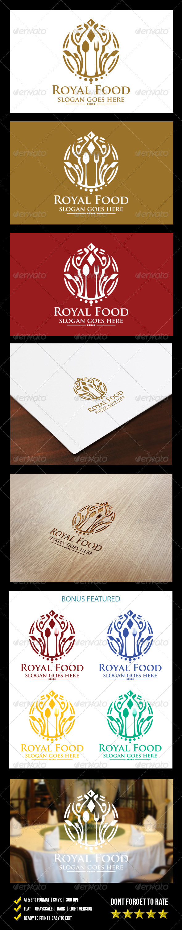 GraphicRiver Royal Food Logo 6241109